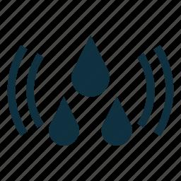 drop, flooding, warning, water icon