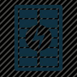 battery, energy, power, solar icon