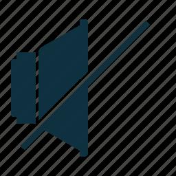 audio, mute, off, sound, volume icon