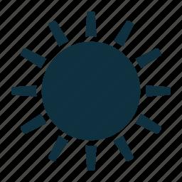 hot, shiny, sun, warm icon
