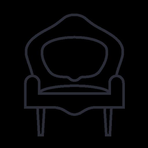 armchair, chair, furniture, interior, sofa icon