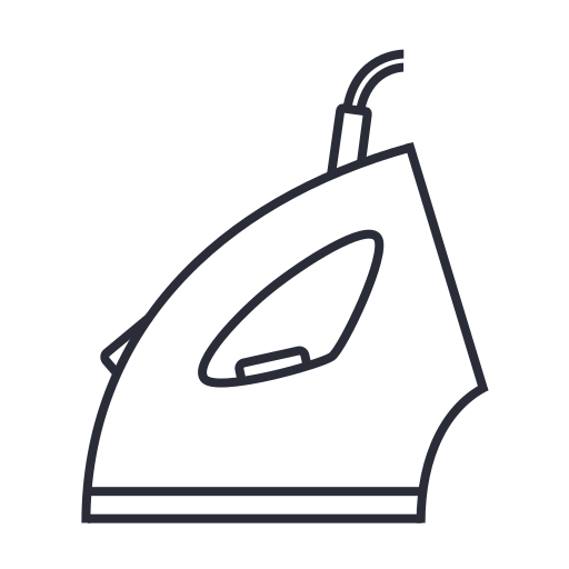 iron, ironing, smoother, steam, tool icon