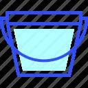 appliances, bucket, home, homeware, house icon