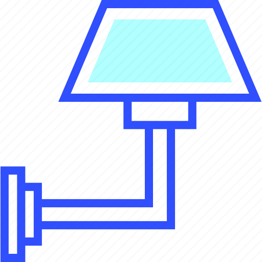 Wall, house, lamp, appliances, home, homeware icon