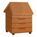 agriculture, apiary, bee, beehive, farm, house