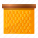 animal, beehive, food, frame, honey, insect