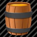 barrel, beer, beverage, brown, honey, wood