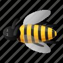 bee, character, cute, honey, smile, yellow