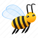 animal, bee, flying, honey, insect, yellow