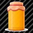bottle, cap, glass, honey, jar, packed icon