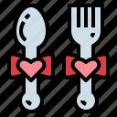 date, dinner, heart, love