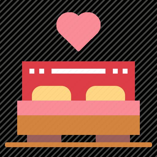 bed, bedroom, love, wedding icon