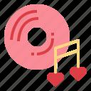 ballad, heart, love, music icon