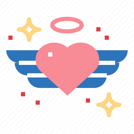 romantic, shapes, valentines, wings icon