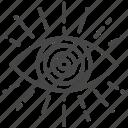 discerning, enlighten, eye, fortunes, horoscope, magical, prophesy icon