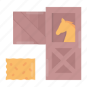 farm, hay, horse, stable icon