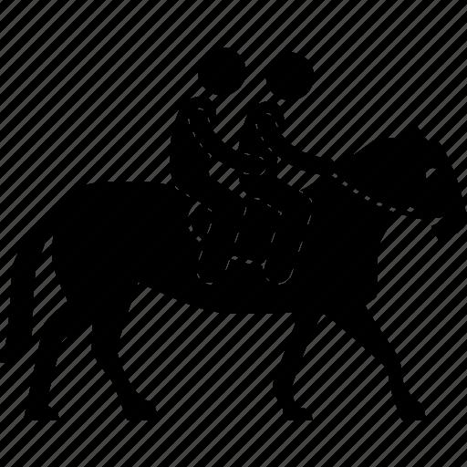 couple, horse, jockey, leisure, people, rider, riding icon