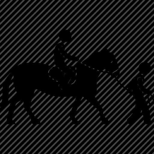 horse, leash, outdoor, riding, saddle, sport, walking icon