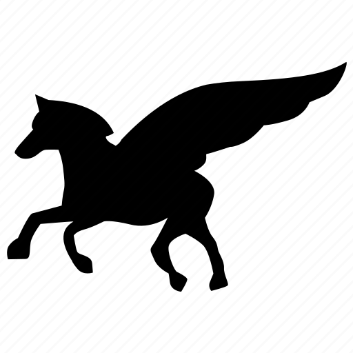 animal, hero, history, horse, mythology, pegasus, winged icon