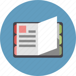 diary, journal, notebook, record, sheet icon