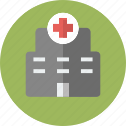 building, clinic, hospital, infirmary, medicine, policlinic icon