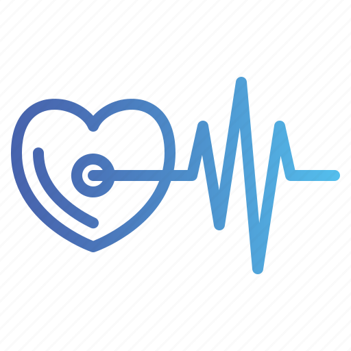 cardiology, healthcare, heart, rate icon