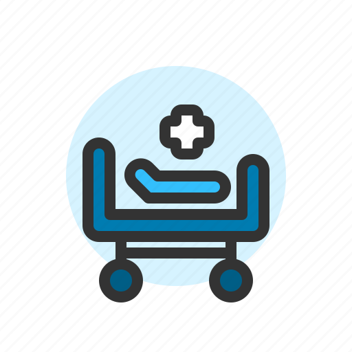 Bed, clinic, healthcare, hospital, medical, patient icon - Download on Iconfinder