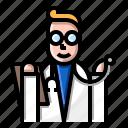 avatar, clinic, doctor, man, medical, medicine, stethoscope icon