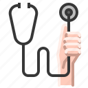 cardiologist, disease, doctor, health, medical, stethoscope, tool icon