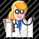 doctor, hospital, male, nurse, specialist, stethoscope, treatment icon