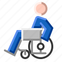 care, chair, disability, disabled, handicapped, wheel, wheelchair icon