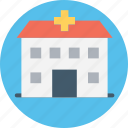 clinic, hospital, infirmary, nursing home, polyclinic icon