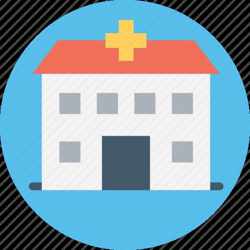 clinic, hospital, infirmary, nursing home, polyclinic icon