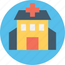 clinic, hospital, medical institute, nursing home, sanatorium icon