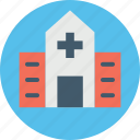 clinic, hospital, infirmary, nursing home, sanatorium icon