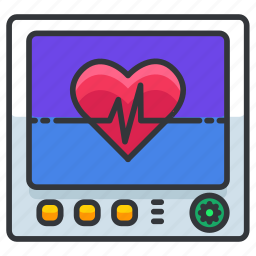 device, equipment, healthcare, heart, hospital, medical, monitor icon