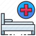 bed, healthcare, hospital, medical, medicine icon