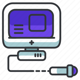 device, equipment, healthcare, hospital, medical, monitor, ultrasound icon