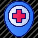clinic, health, healthcare, hospital, location, medical, medicine icon