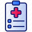 clinic, health, healthcare, hospital, medical, medicine, report icon