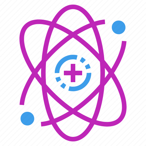 atomic, chemistry, molecule, nucleus, physics, science icon