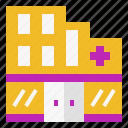 building, center, construction, estate, hospital, medical icon