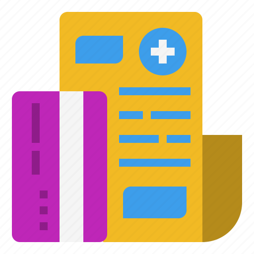bill, card, credit, expense, finance, medical, money, pay, payment, treatment icon