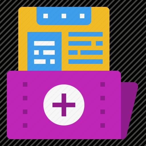 data, document, file, folder, health, healthcare, hospital, medical, record, storage icon
