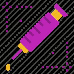 medicine, syringe, vaccine icon