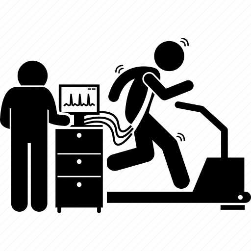 health, machine, monitor, running, stress, test, treadmill icon