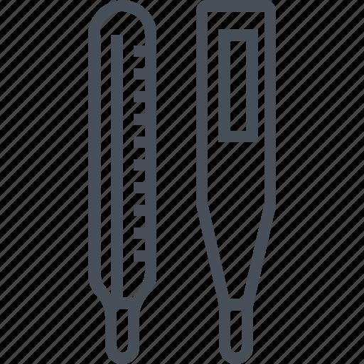 healthcare, temprature, thermometer icon
