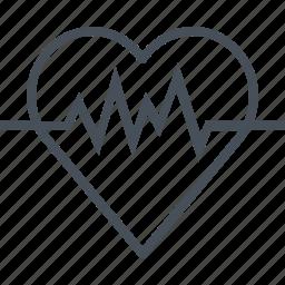 beat, cardiogram, hearth, hospital, love, pulse, wave icon