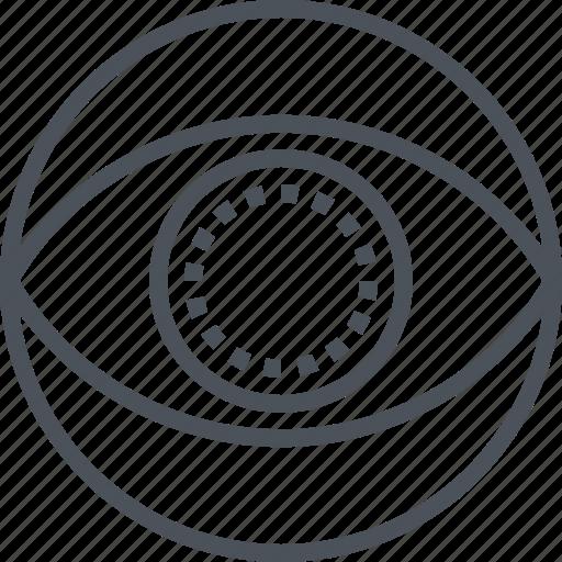 eye, lens, medical, vision icon