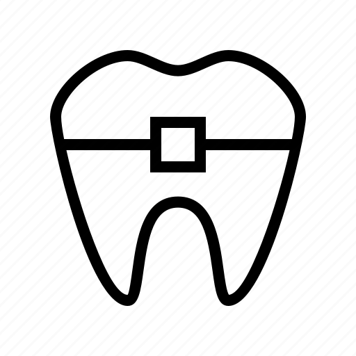braces, doctor, hospital, medical, medicine, tooth icon
